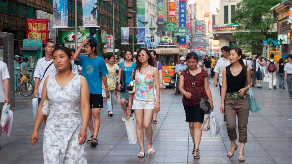Compradores en Shanghai