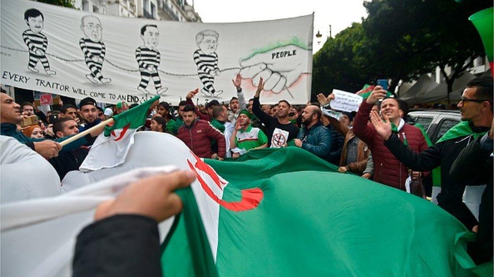 جانب من المظاهرات