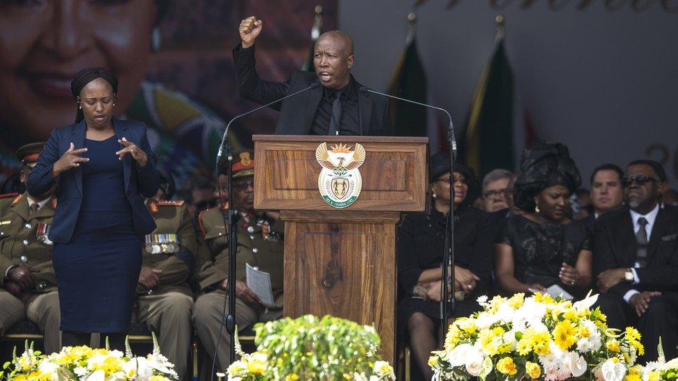 Julius Malema at Winnie Mandela's funeral