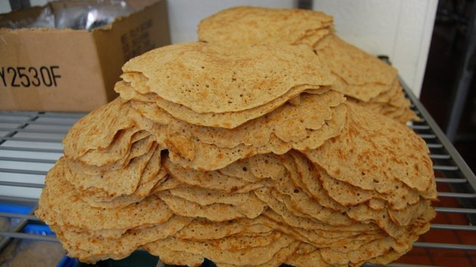 Pile of Staffordshire oatcakes