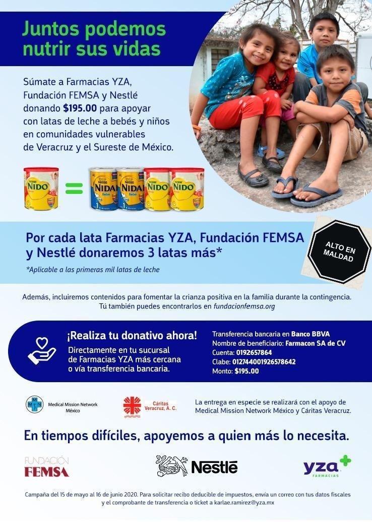 Campaña de donación de leche materna de Nestlé y FEMSA