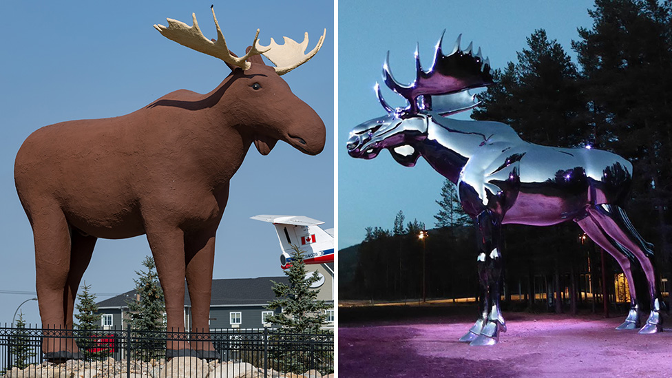 'Don't mess with Mac': International face-off over moose statues