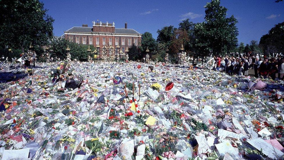 Kensington Palace after Princess Diana's death