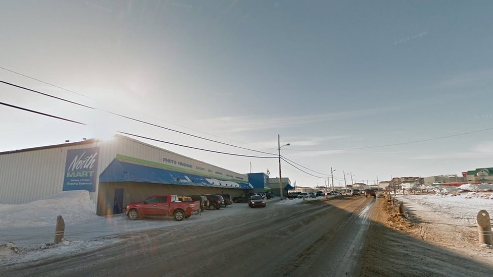 One of the shopping malls in Iqaluit