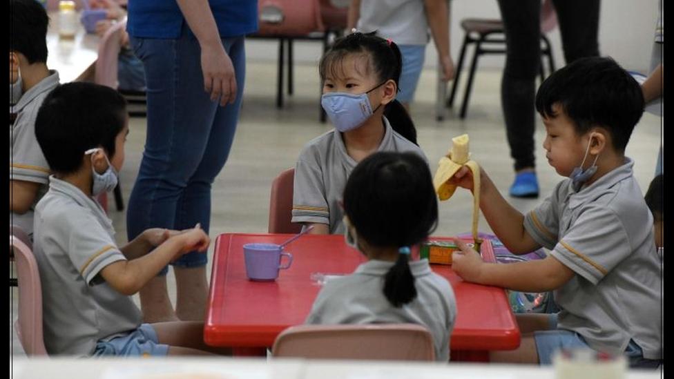 Recreio em escola de Cingapura