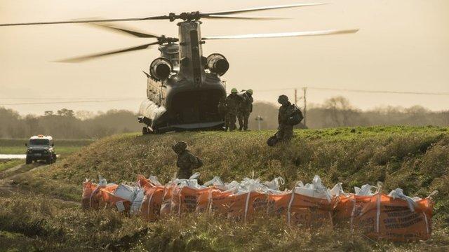 RAF helps repair damaged river bank in Lancashire