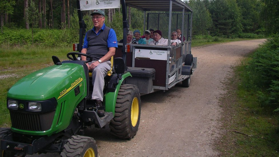 Moors Valley charity loaned tractor after theft