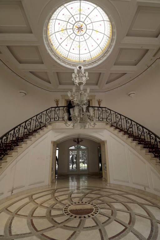 Vista de las escaleras