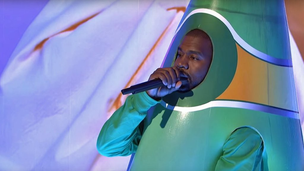 Kanye West performs on Saturday Night Live