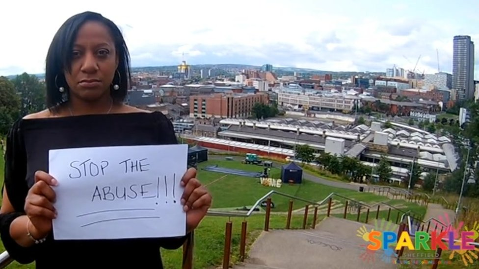 Sparkle Sheffield's campaign includes a video called Stop the Abuse