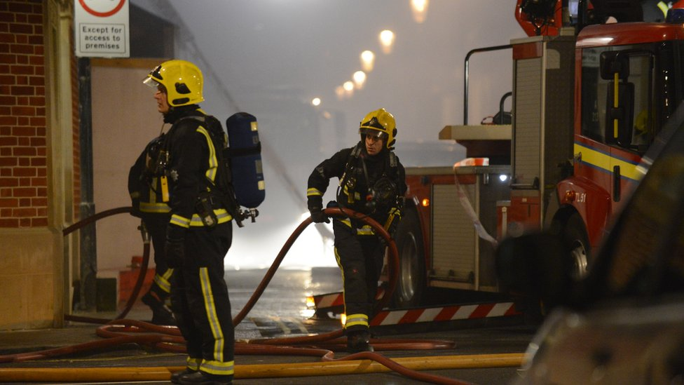 Firefighters (file image)