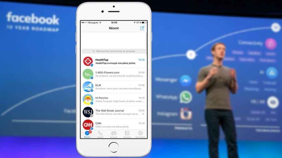 Mark Zuckerberg talking about chatbots