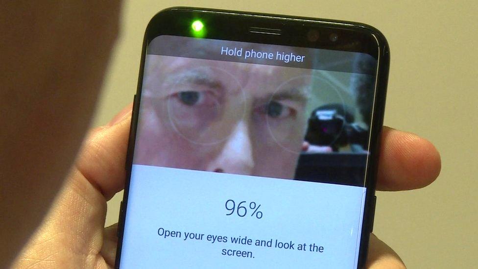 Iris scanning tech