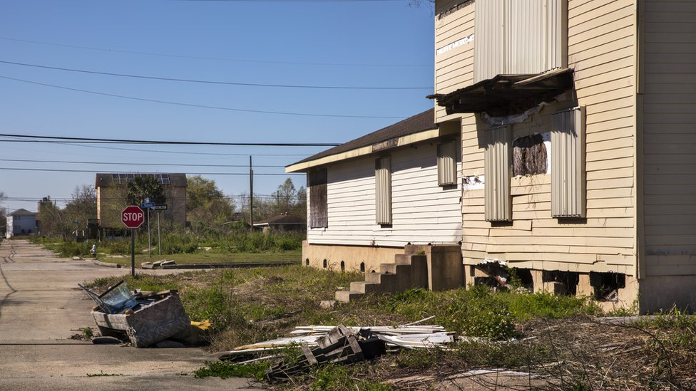 Picture of New Orleans' Lower Ninth Ward