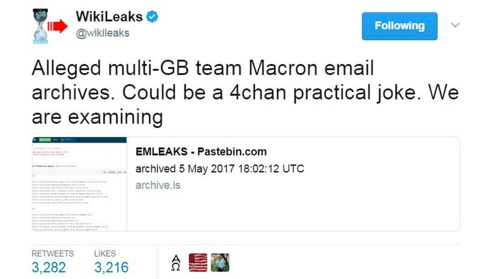 Alleged multi-GB team Macron email archives. Could be a 4chan practical joke. We are examining