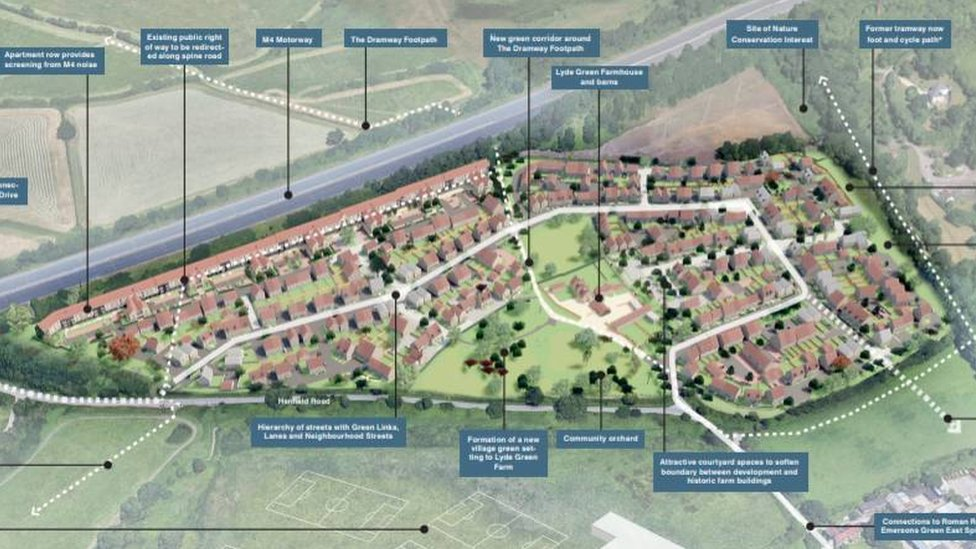 Hundreds of new homes planned near M4 and Emersons Green