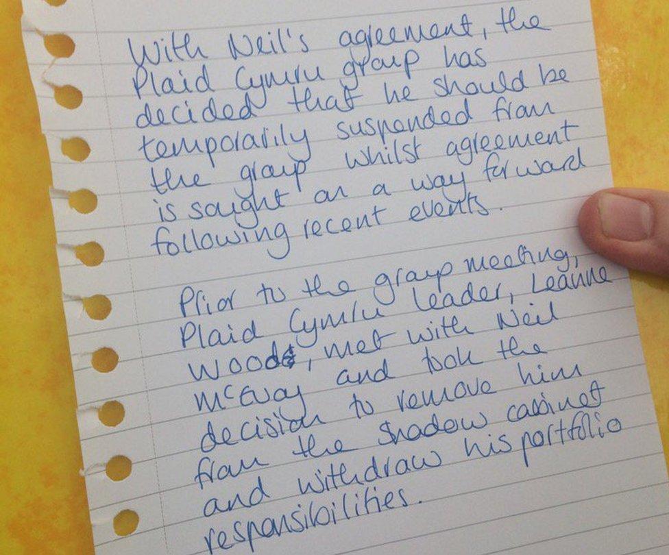 Plaid Cymru statement