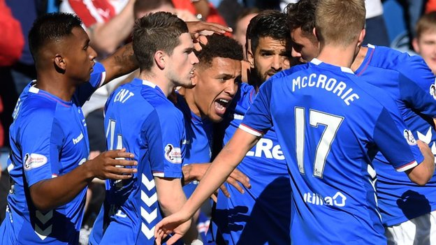 Rangers 5-1: St Johnstone: Steven Gerrard's side go second after rout