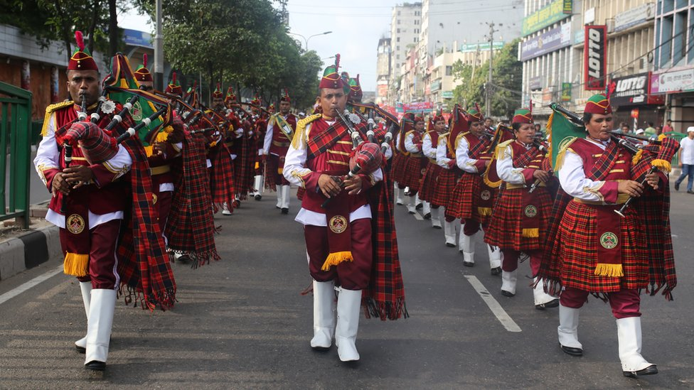 May Day parade in Dakha