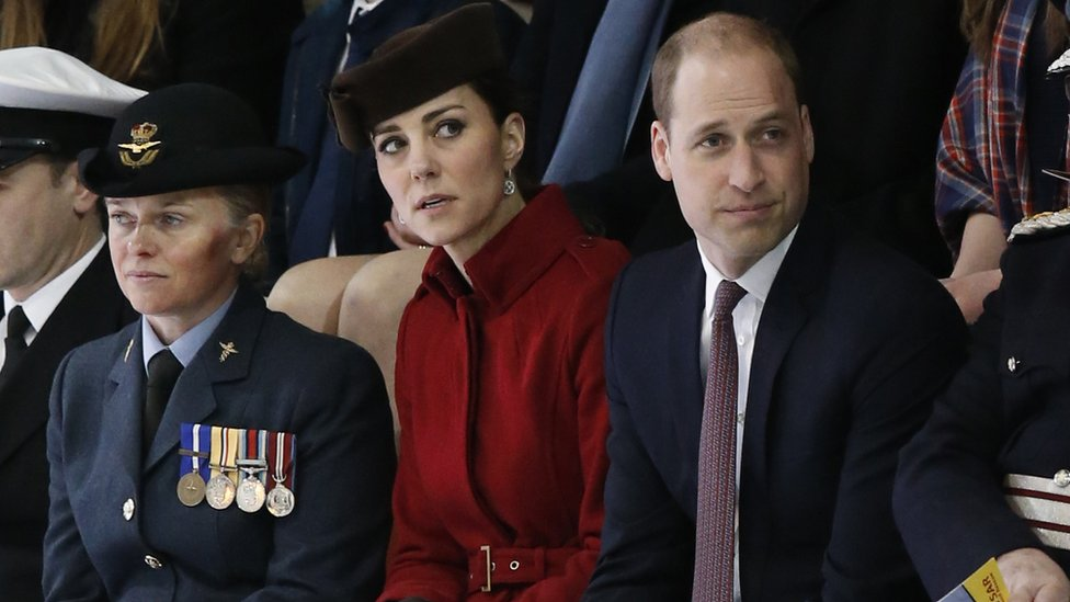 The Duke and Duchess of Cambridge during the parade