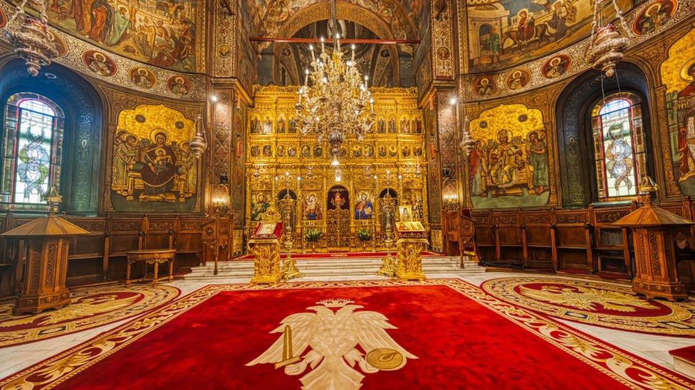 Interior of a Bucharest, Romania