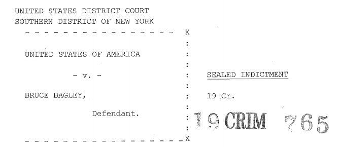 La acusación judicial contra Bagley