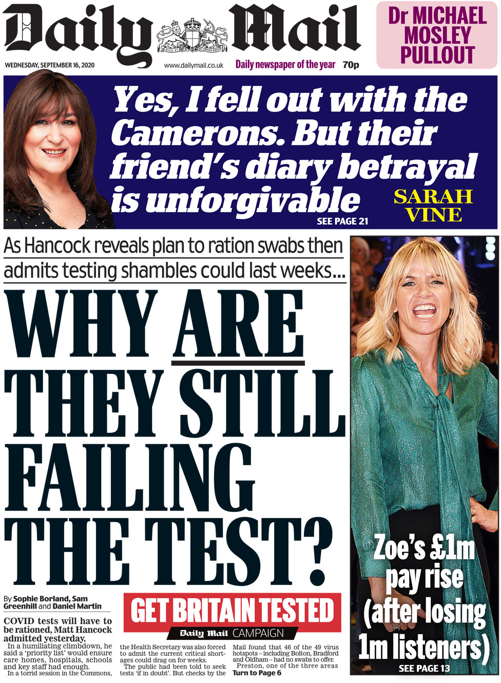 Daily Mail 16 September