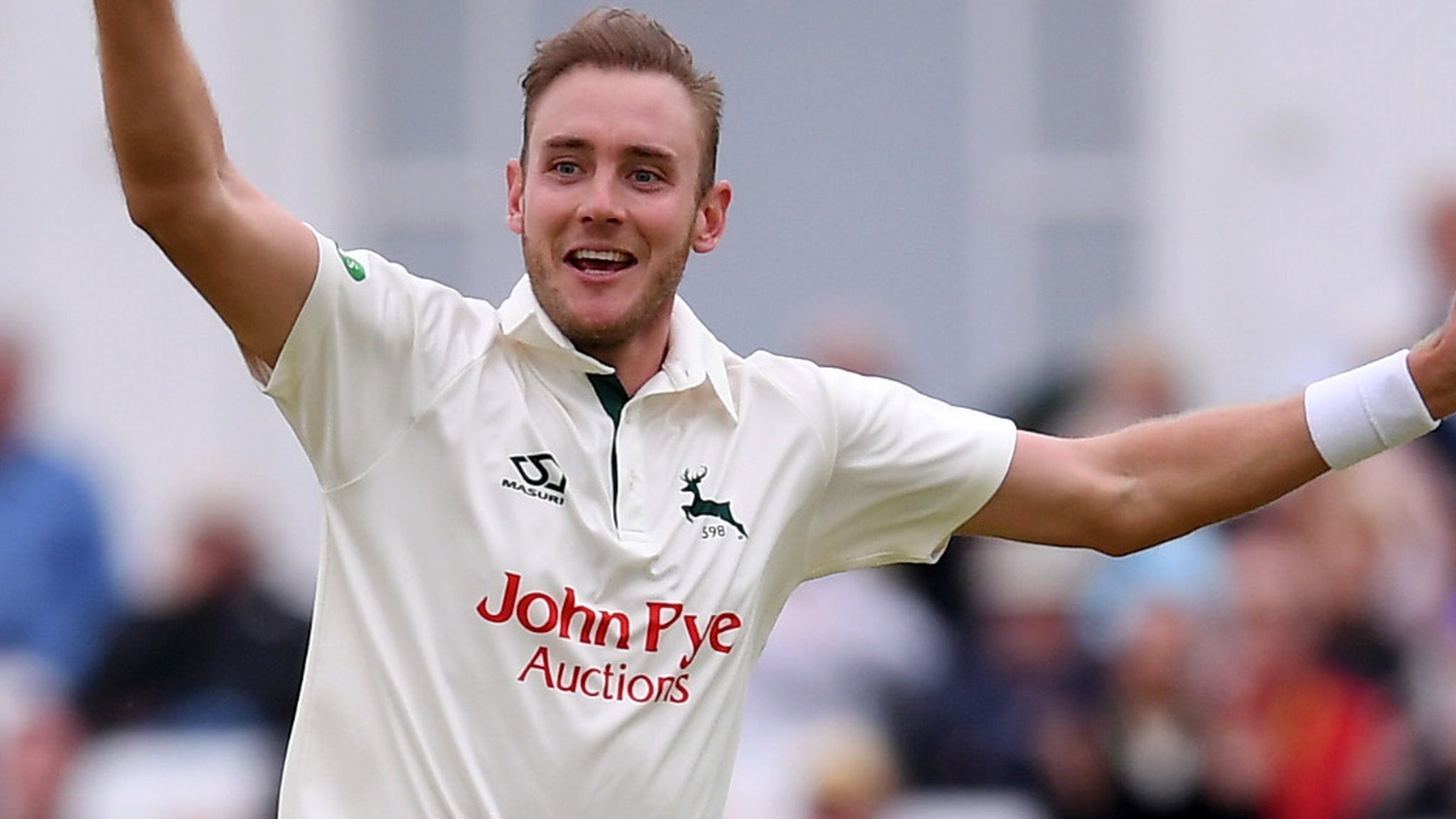 England fast bowler Broad handed Notts testimonial year