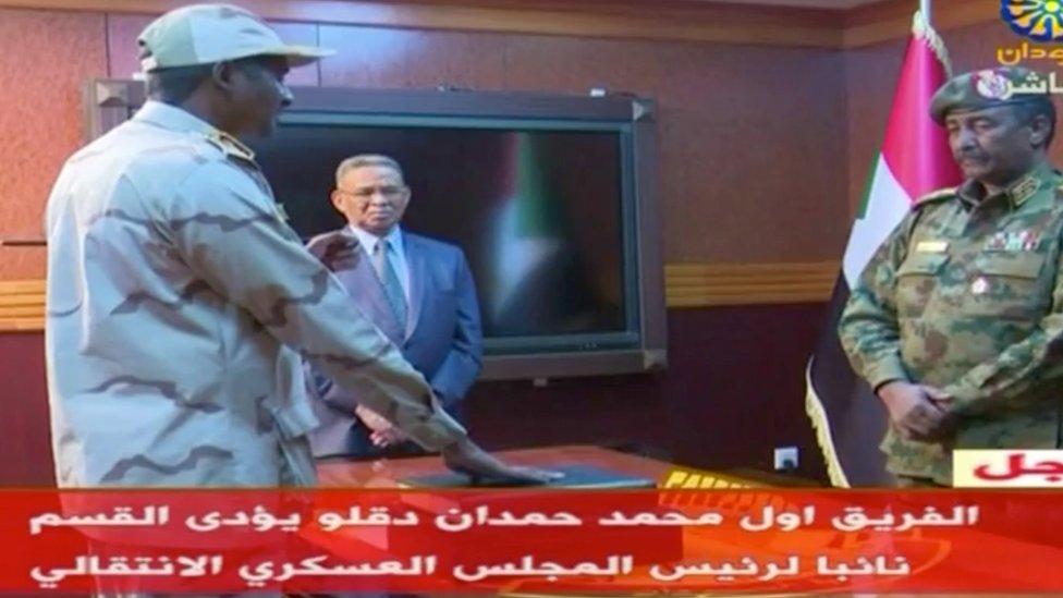 قائد المجلس العسكري في السودان ونائبه