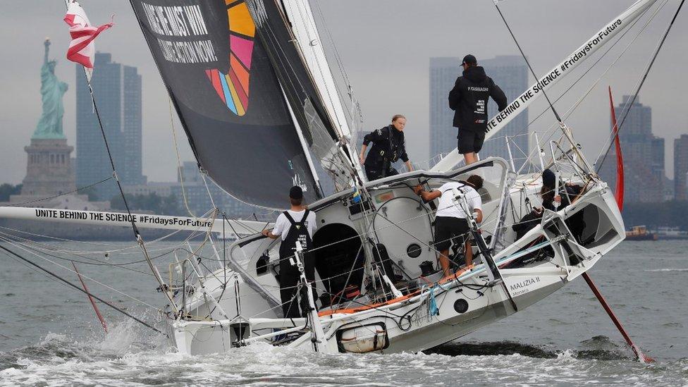 Malizia II racing yacht