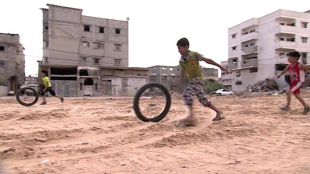 Children playing in Gaza