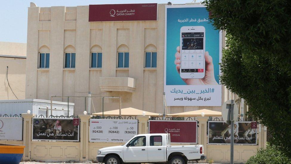 Qatar Charity building in the capital Doha (9 June 2017)