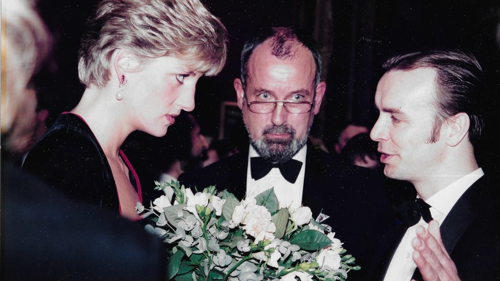 Princess Diana was a very public supporter of AIDS charities and in the late 1980s. She is seen in this photograph talking to Derek OGG, QC, co-founder of Scottish Aids Monitor (SAM)