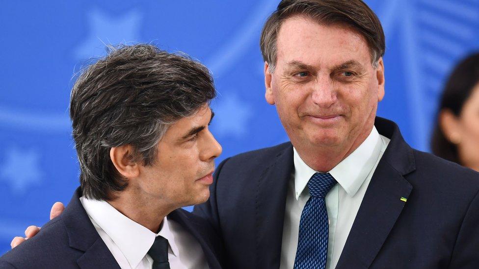 Nelson Teich y Bolsonaro
