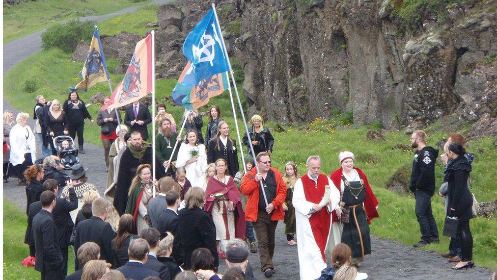 Asatru procession, 2009
