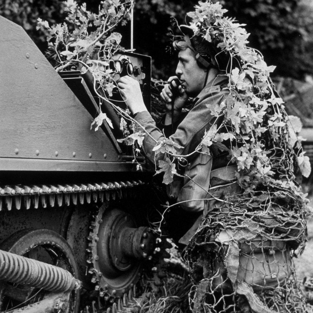 Soldado británico camuflado en 1939