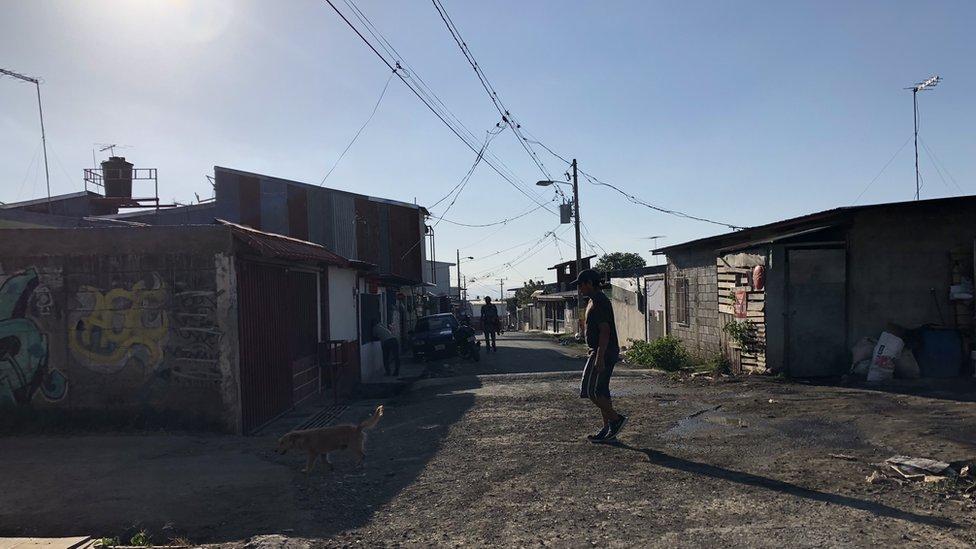 View of a street in La Carpio