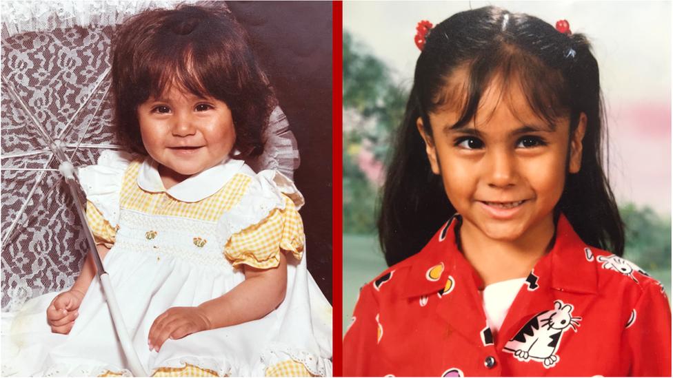 Fotos de Yazmin quando pequena