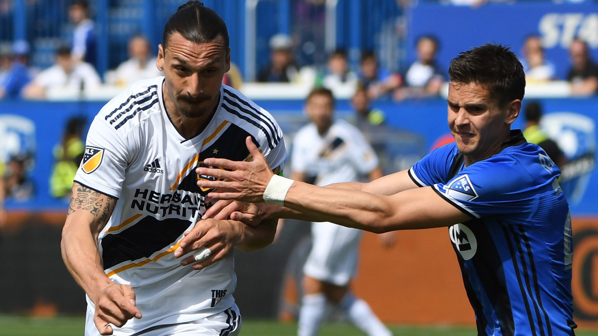 Ibrahimovic shown straight red as LA Galaxy beat Montreal Impact