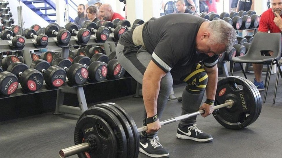 Sgt Matt Ratana at a weightlifting competition in 2016