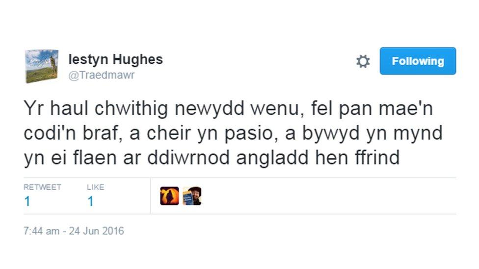 """Fel """"angladd hen ffrind?"""""""