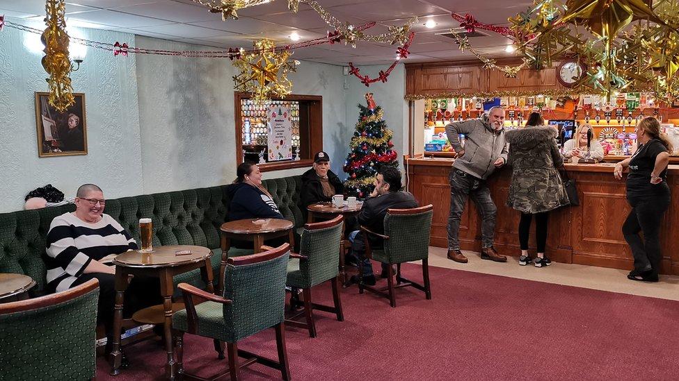 Inside the Labour Club bar