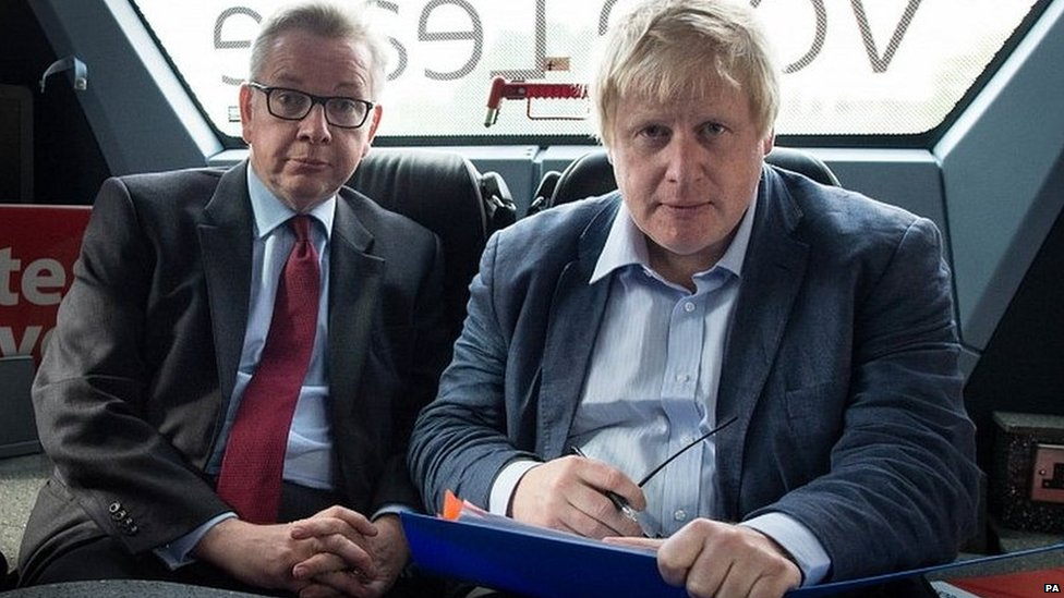 Boris Johnson with Michael Gove during the 2016 referendum campaign