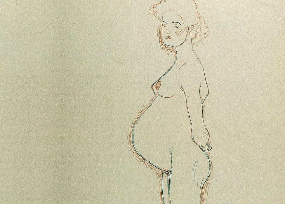 Estudio para la pintura: Esperanza II (AS 1774) de Gustav Klimt. 1907/08