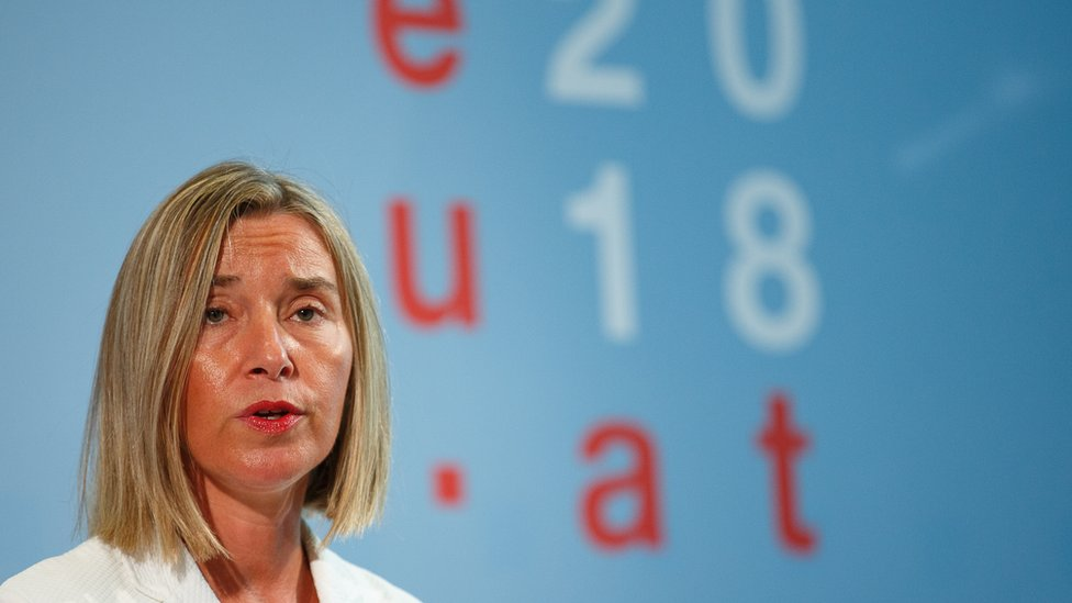 High Representative of the European Union for Foreign Affairs and Security Policy Federica Mogherini on 31 August