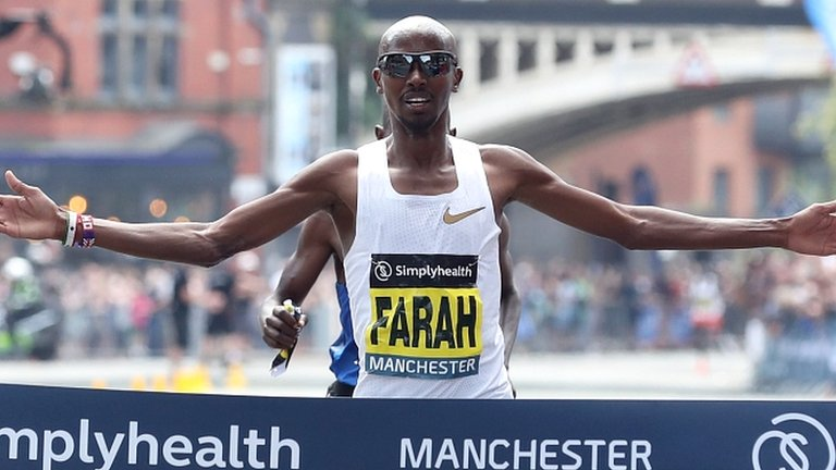 Mo Farah wins Great Manchester Run ahead of Moses Kipsiro