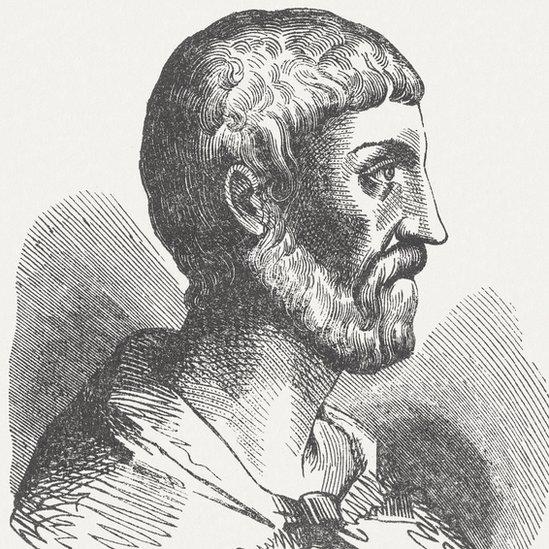 Ilustración de Pitágoras