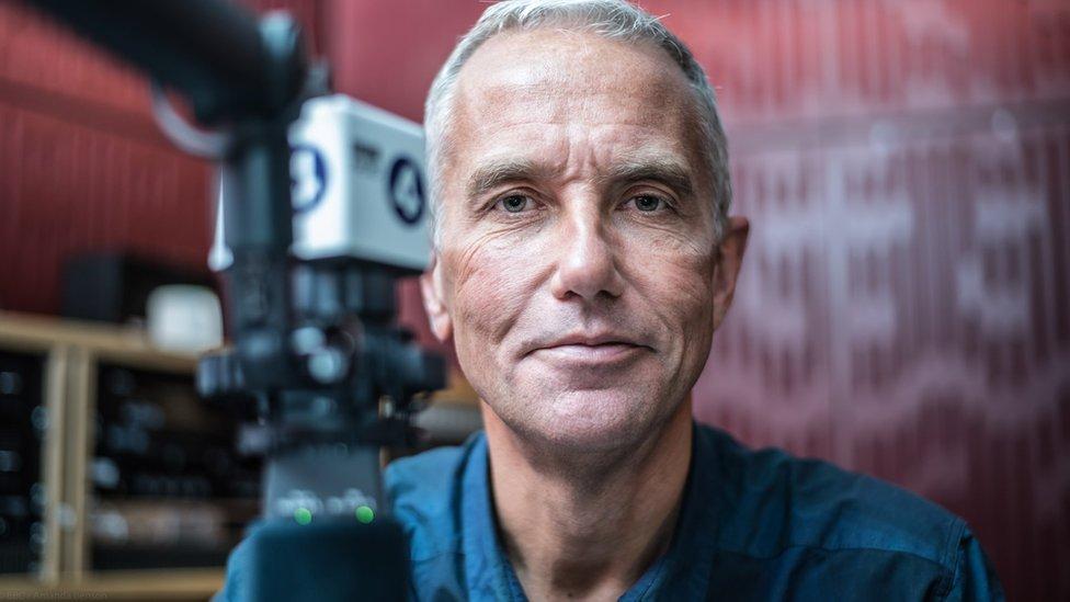 Eddie Mair in Radio 4 studio