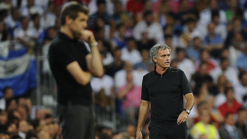 José Mourinho y Tito Vilanova.