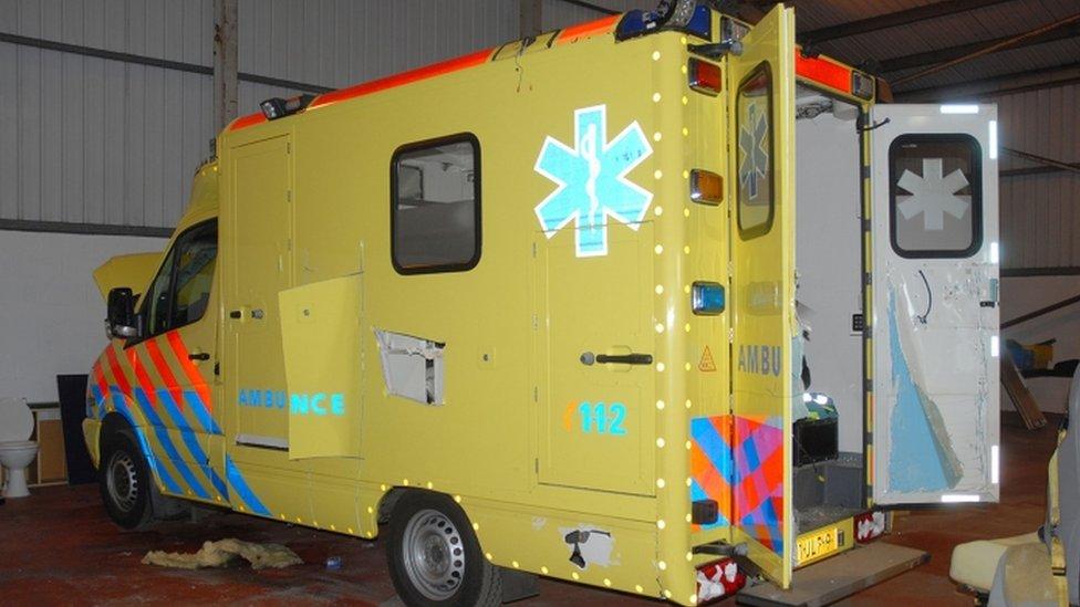 Seized ambulance